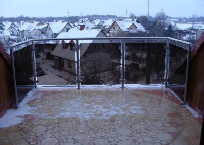 Balustrady szklane na słupkach Poznań