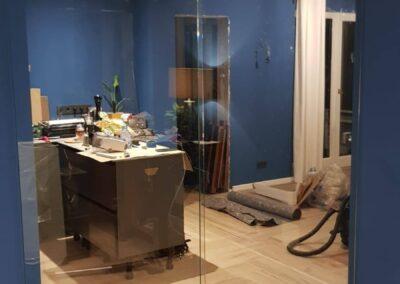 Drzwi szklane dwuszkrzydłowe